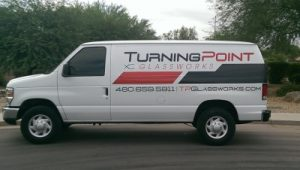 Turning Point Glassworks Installation Van